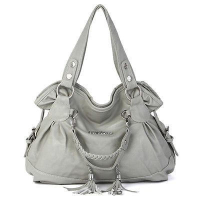 New Fashion Women PU Leather Handbag Shoulder Bag Tote Purse