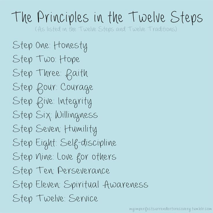 AA-12-Steps The Principles in the Twelve Steps. #AA #OA #NA #SA #FA ...