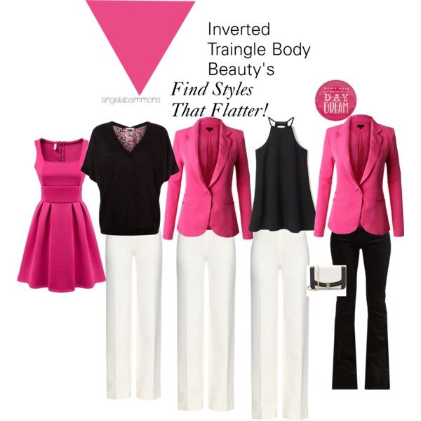 Finding the right fit!!! by typology on Polyvore featuring beauty, Fenn Wright Manson, Diane Von Furstenberg, 7 For All Mankind and invertedtriangle