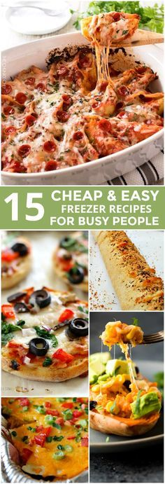 These 15 Freezer Meal Recipes Are So DROOL WORTHY! I love all the options for breakfast, lunch and dinner. Best part is, they're CHEAP.