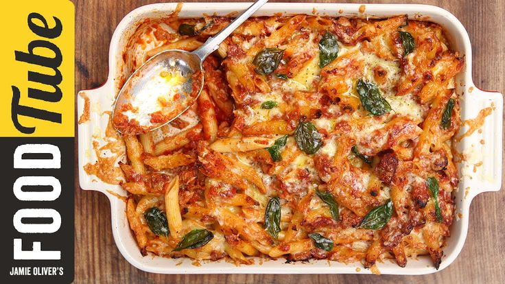 If you're looking for great recipes to feed your family you'll love our new channel: http://jamieol.com/FamilyFoodTube. You'll find tasty meals for all ages that will save you time, money and give you top tips on getting your kids making healthier choices. Here mum of two KerryAnn Dunlop shares her family classic Tuna Pasta Bake. Meaty tuna and penne pasta in a rich tomato and basil sauce topped with cheese and baked until deliciously golden. Simple, affordable ingredients turned in to a…