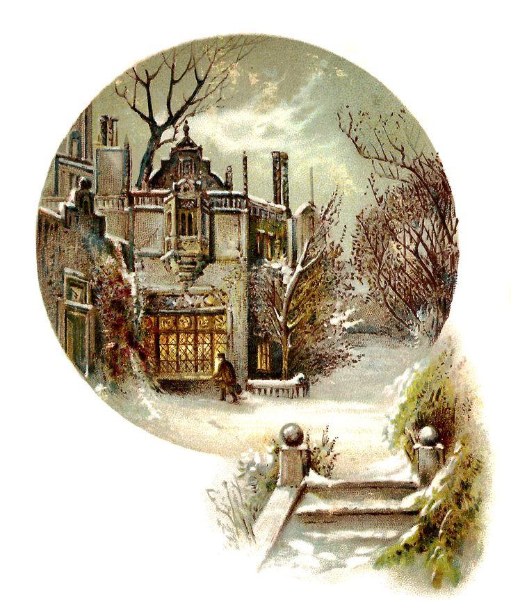 это намеренное винтажные картинки зима картины размещайте близко