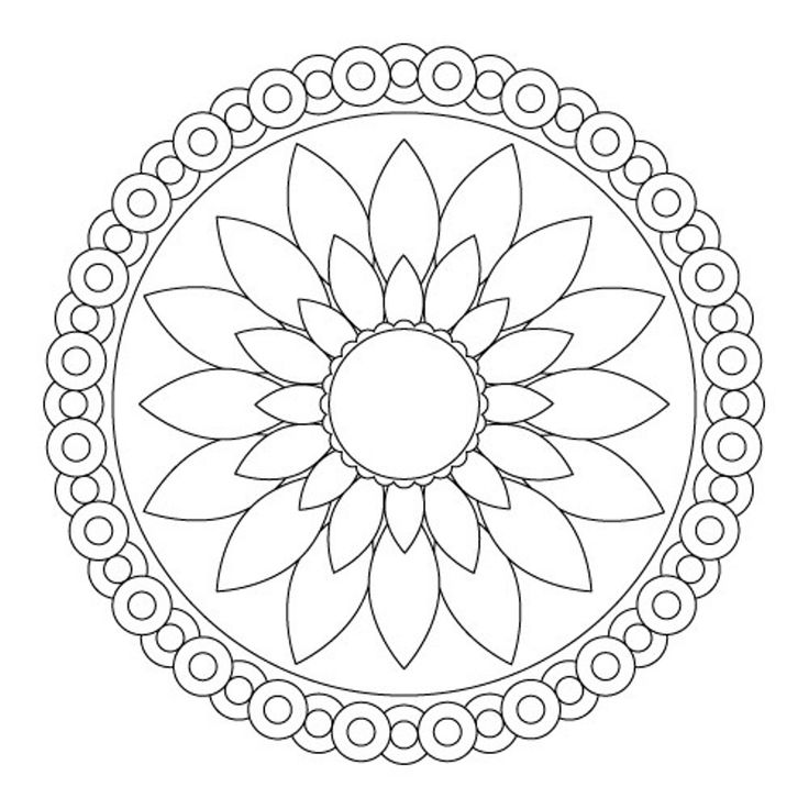 Download Simple Flower Mandala Coloring Pages Or Print Simple ...