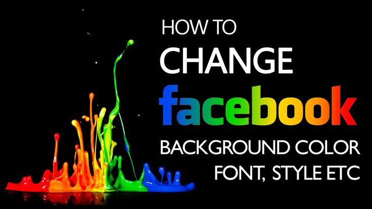 how to change the font of facebook