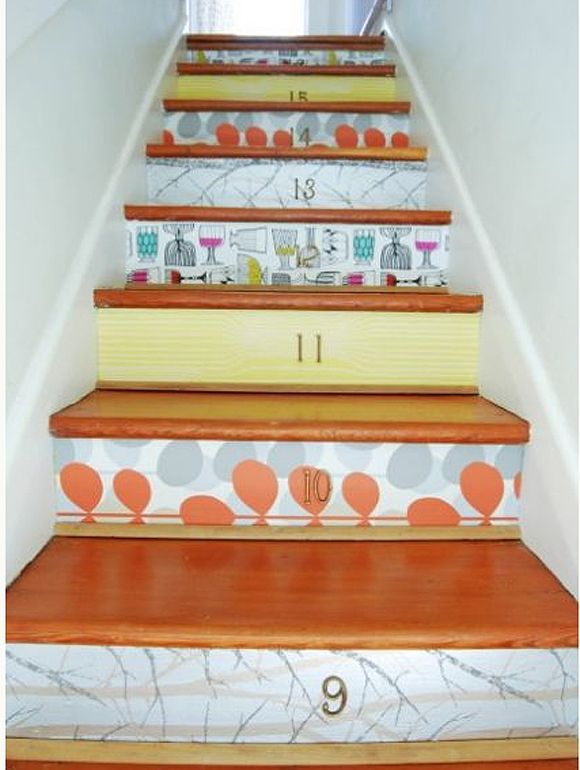 91 best images about stair risers decorating ideas on - Stair riser decoration ideas ...