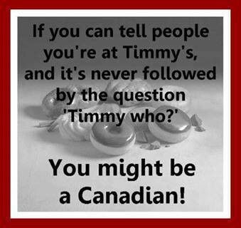 Oh Canada! There's only one Timmy's!