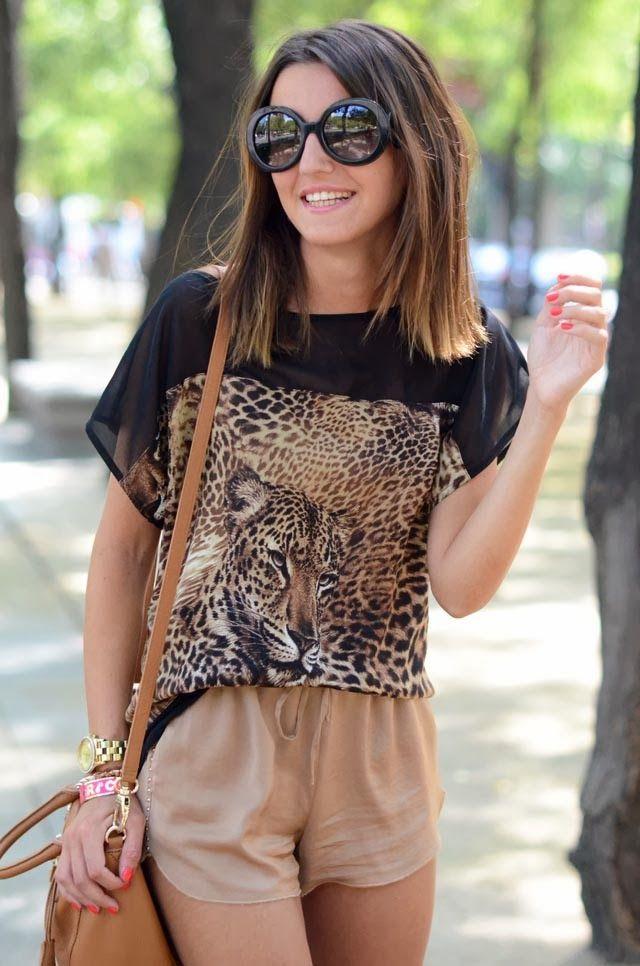 DIY Cómo hacer blusa estampada de leopardo (patrones blusa gratis)