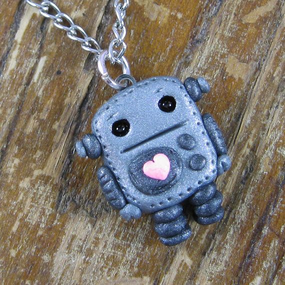 Robot Necklace #robot #necklace #cute