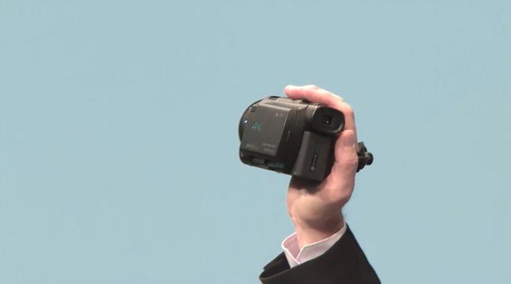 #Liveblog Y para los fanáticos de los videos Sony presenta su Handycam 4K  #CES2015