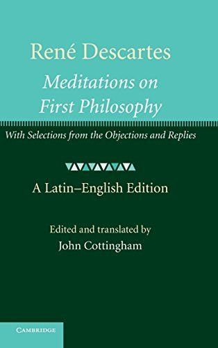 a review of descartess meditations on first philosophy Rene descartes meditations on first philosophy meditations on first philosophy ren descartes 1641 internet encyclopedia of philosophy, 1996 this file is of the 1911.