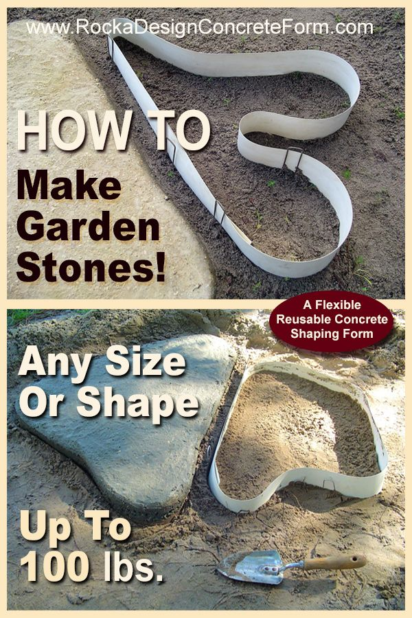 Embellish your garden with ROCKS you made! Easy to do and one of a kind stones!