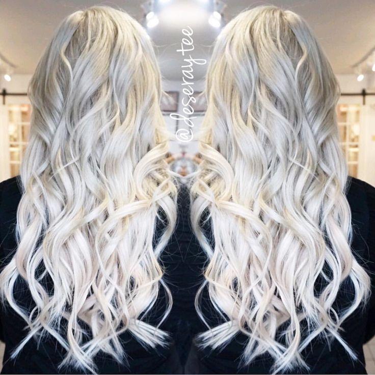 white platinum blonde hair josie