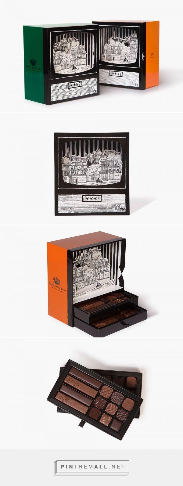 Le charme du Paris des années 1950 dans un packaging de chocolat - created via…