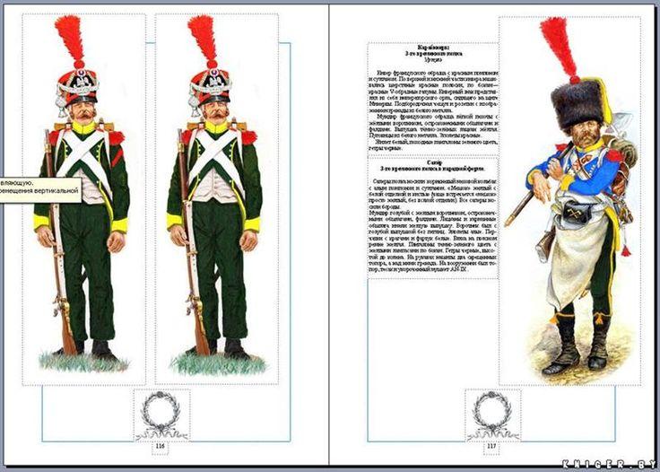 Костюмы армии наполеона 1812 года