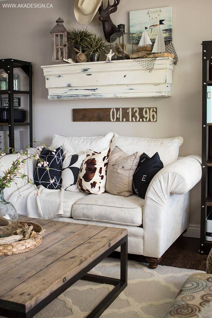 35 rustic farmhouse living room design and decor ideas for your home