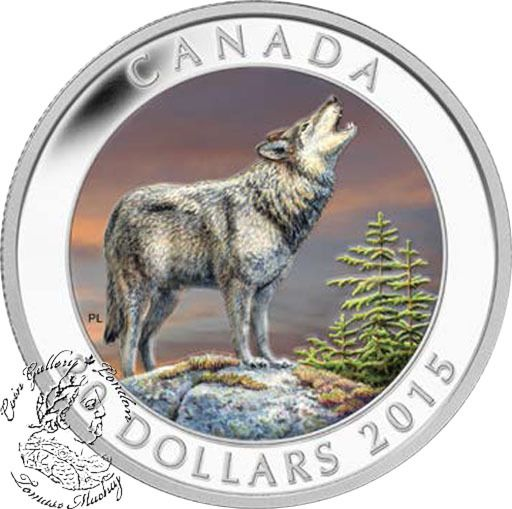 Coin Gallery London Store - Canada: 2015 $20 Wolf Silver Coin, $99.95
