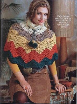 Chevron Poncho for Crochet Today '08