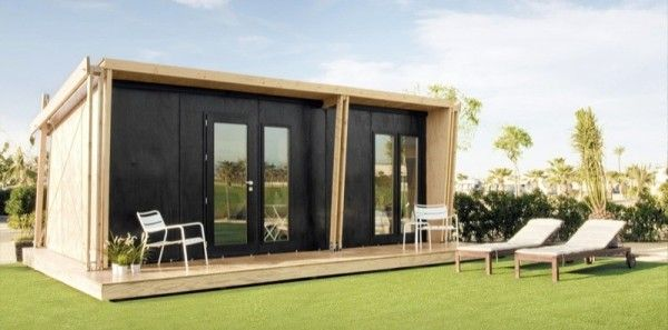 viVood Prefab Tiny House Assembles in One Day.  This viVood prefab tiny house assembles in one day. And one great part about it is that you don't need to lay a foundation prior to assembling on your site.http://tinyhousetalk.com/vivood-prefab-tiny-house/