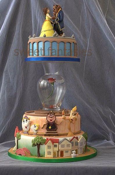 Beauty & the Beast Cake