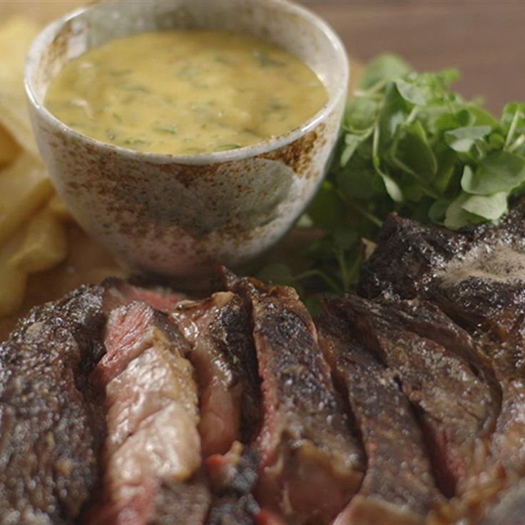 Try this Cote De Boeuf Bearnaise recipe by Chef James Martin. This recipe is from the show James Martin's Home Comforts.