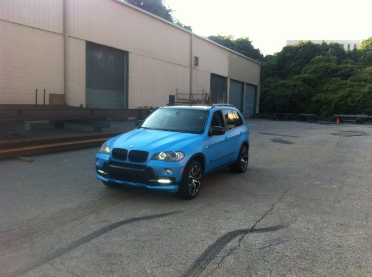 BMW x5 custom blue plasti dip color done by terminal velocity motorsports