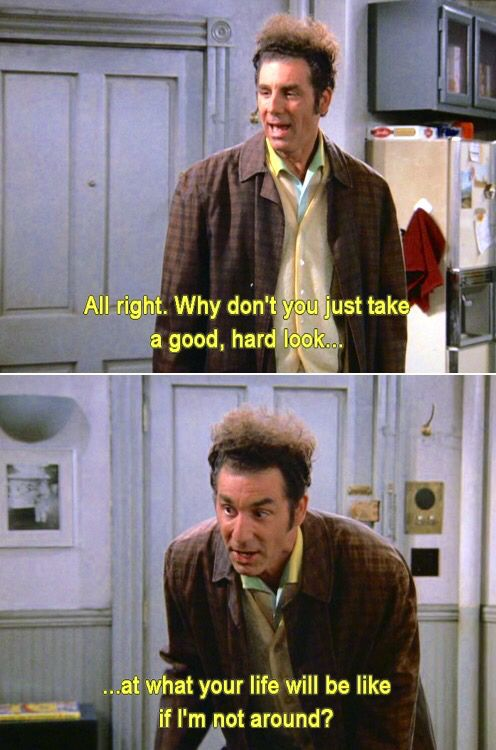 an analysis of cosmo kramer in the sitcom jerry seinfeld Created by larry david and jerry seinfeld,  his neighbor cosmo kramer ( seinfeld)  analysis of an episode of the american sitcom.