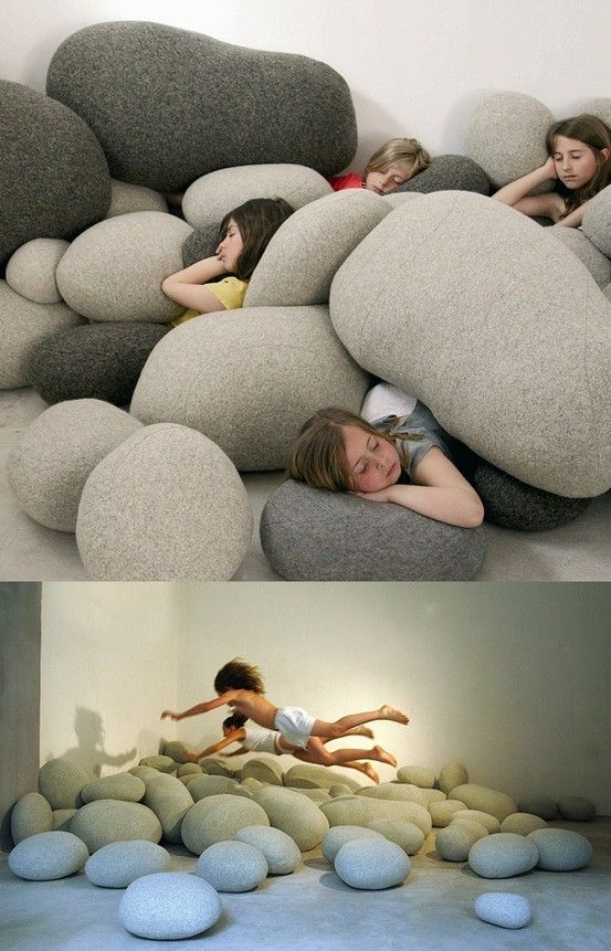 Rock Pillows by corrine- these would be perfect for my office