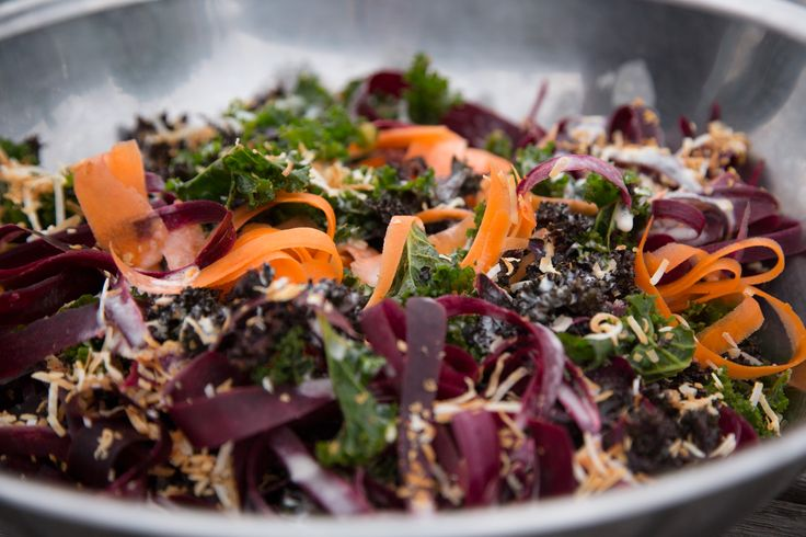 Carrot, Coconut & Kale Salad With Kaffir Lime Dressing THE BOX - Ripe Recipes
