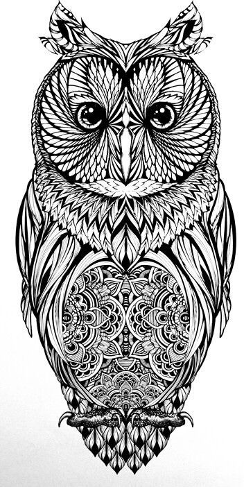tattoo owl coloring pages - photo#20
