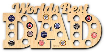 AFTER 5 World's Best Dad Beer Cap Map