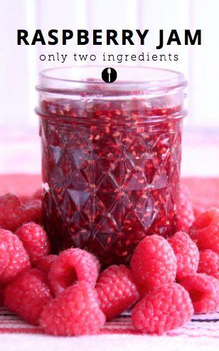 2-ingredient raspberry jam recipe