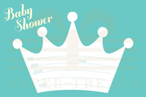 Baby Shower Invitations Prince Crown is amazing invitations sample