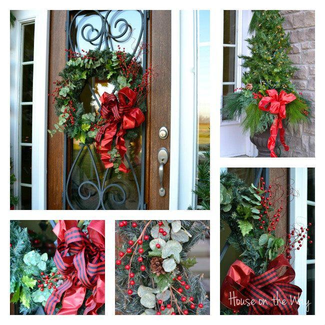 132 best Front DoorPorch Christmas Decor images on Pinterest