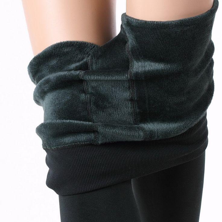 Autumn High Elasticity Good Quality Warm Winter Leggings Women Thick Velvet Pants Christmas Leggings 2017