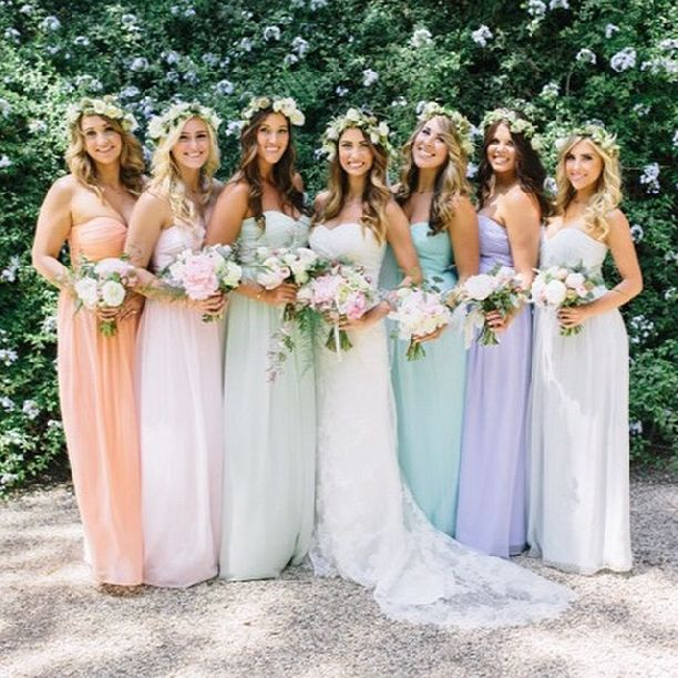 1000  ideas about Rainbow Bridesmaids on Pinterest - Rainbow ...
