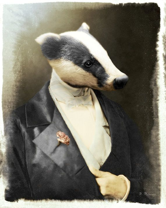 Badger Art Print Honey Badger Fine Art by WatchfulCrowArts on Etsy, $25.00