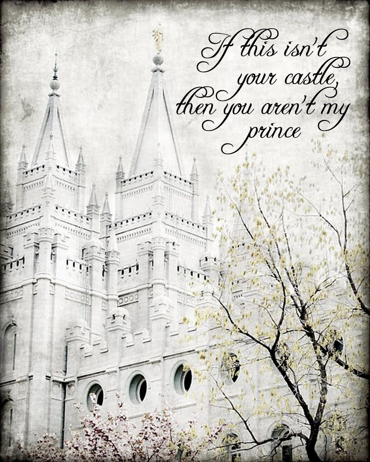 A Pocket full of LDS prints: Freebie- If this isn't your castle, then you aren't my prince