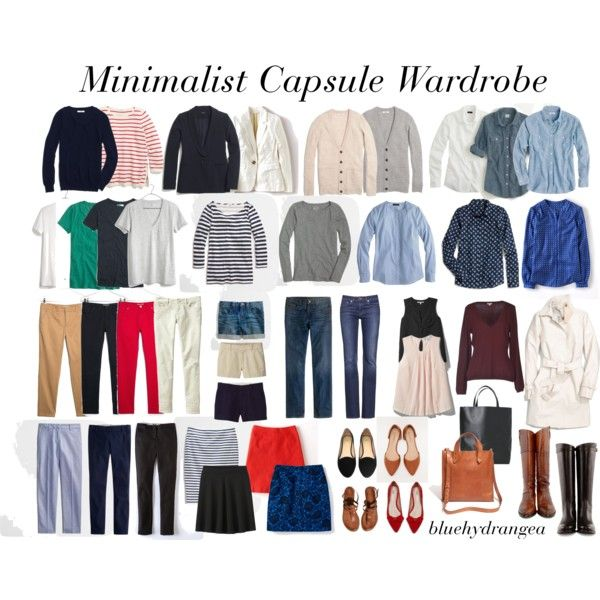 Minimalist Capsule Wardrobe, created by bluehydrangea on Polyvore