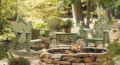 Rustic and inviting fire pit