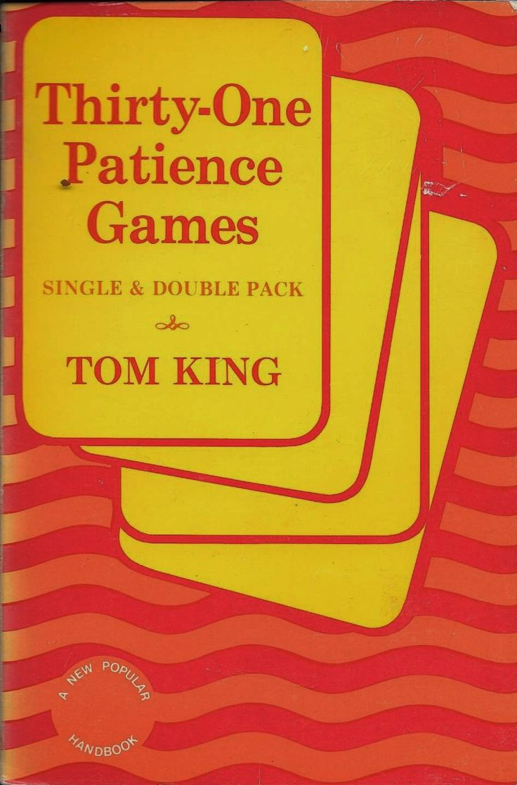 Thirty-one Patience Games, Single and Double Packs, author Tom King, 1968, Solitaire games by KathleenNCo on Etsy