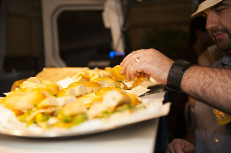 Cuban bagels at Private function. more info www.roundtheway.com.au  #bagel #bagels #foodtruck #food #truck #cubansandwich #cuban #sandwich #roundtheway