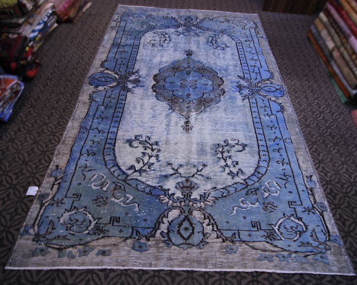 Turkish Handmade Vintage Carpet Special Overdyed Rug Antique Style Free Shipping