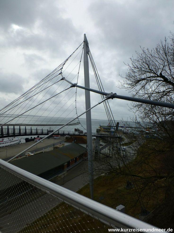 """Die Fußgängerbrücke """"Balkon zum Meer"""" in Sassnitz - fast in ihren vollen Ausmaßen"""