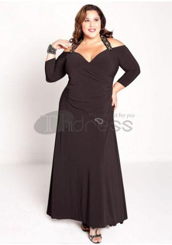 Plus Size Evening Dresses-plus size evening dress Gabrielle Gown in Black
