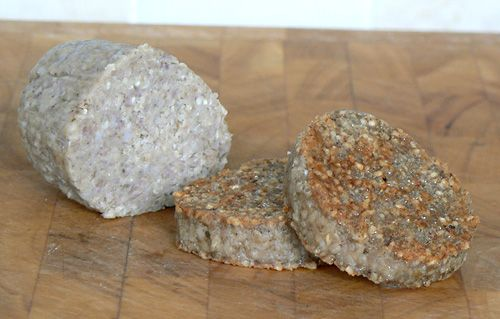 Irish White Pudding - oatmeal pork sausage