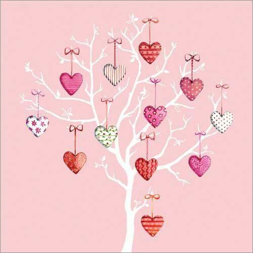 Anniversary wedding greetings card love hearts tree http://www.phoenix-trading.co.uk/web/lauraclarke
