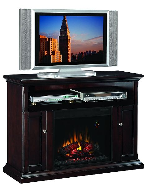 Classic Flame Cannes Espresso Media Center With Electric Fireplace With 23ef023gra Insert