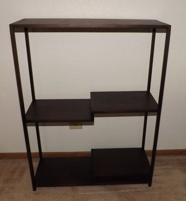 """#11 Shohin Display Stand- 22.5"""" x 30"""" tall x 8.5"""" deep, walnut wood, comes with storage box, strong joinery, $800"""