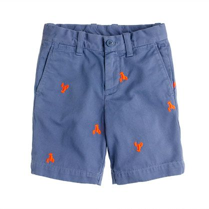 Boys' Stanton short in embroidered garment-dyed chino - stanton - Boy's shorts - J.Crew