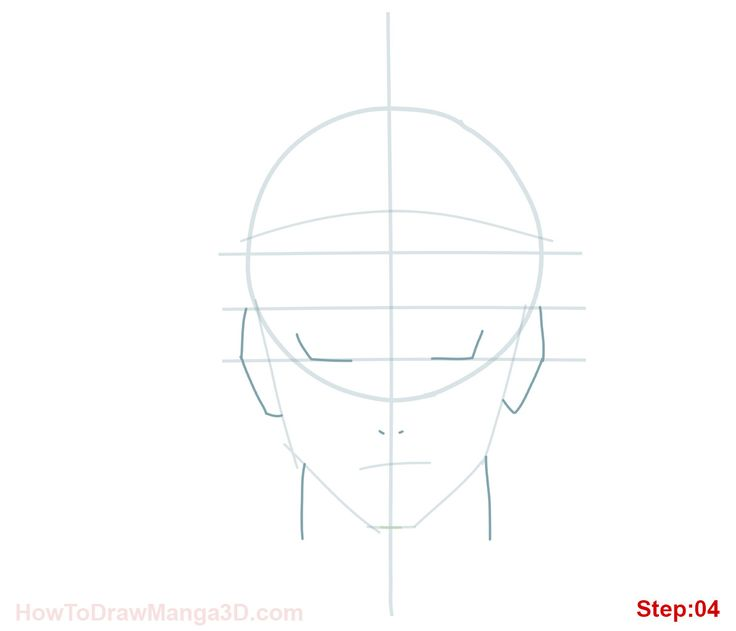 How to draw Naruto Uzamaki step 04